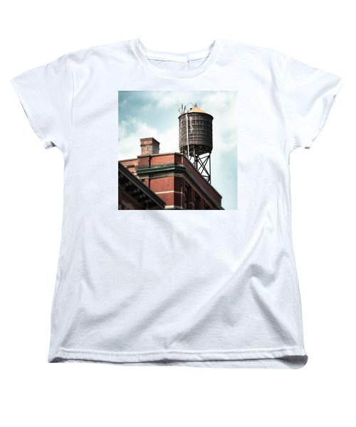 Water Tower In New York City - New York Water Tower 13 Women's T-Shirt (Standard Cut) by Gary Heller
