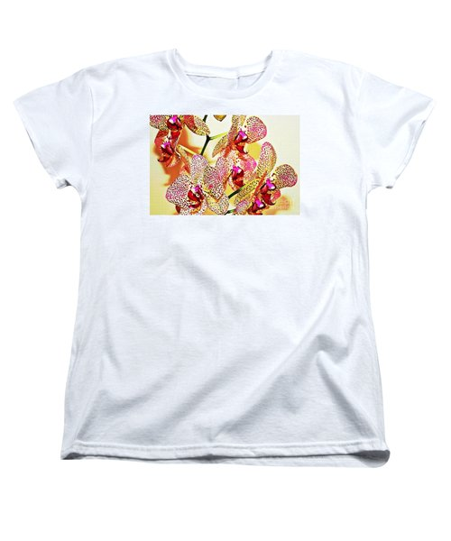 Women's T-Shirt (Standard Cut) featuring the photograph Watercolor Orchid Shadows by Judy Palkimas