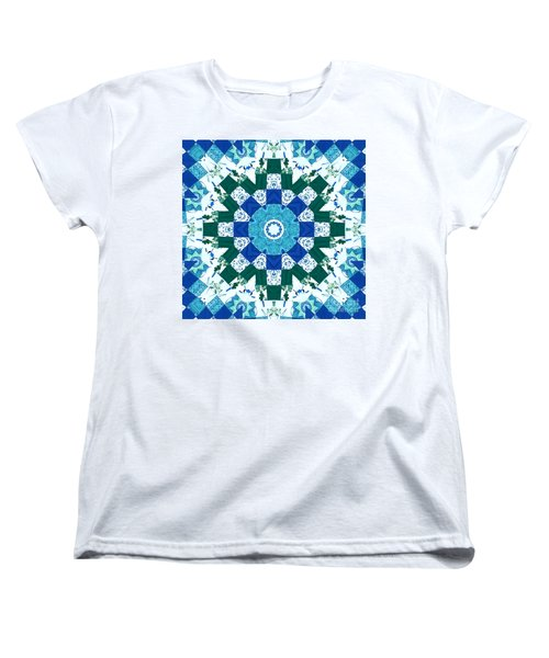 Watercolor Quilt Women's T-Shirt (Standard Cut) by Barbara Griffin