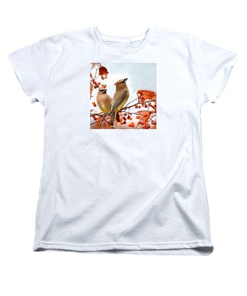 Beautiful Waxwing  Women's T-Shirt (Standard Cut) by Nava Thompson
