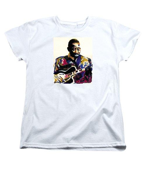Wes Montgomery Women's T-Shirt (Standard Cut) by Everett Spruill