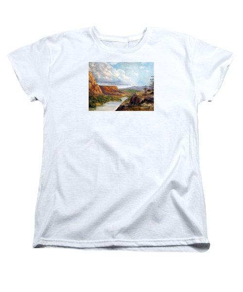 Western River Canyon Women's T-Shirt (Standard Cut)