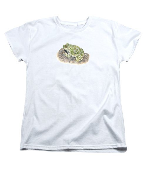 Western Spadefoot Women's T-Shirt (Standard Cut) by Cindy Hitchcock