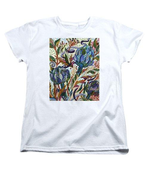 Where Clover Grows Women's T-Shirt (Standard Cut) by Erika Pochybova