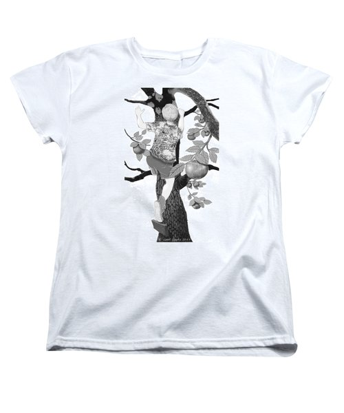 Women's T-Shirt (Standard Cut) featuring the digital art Where The Best Apples Are by Carol Jacobs