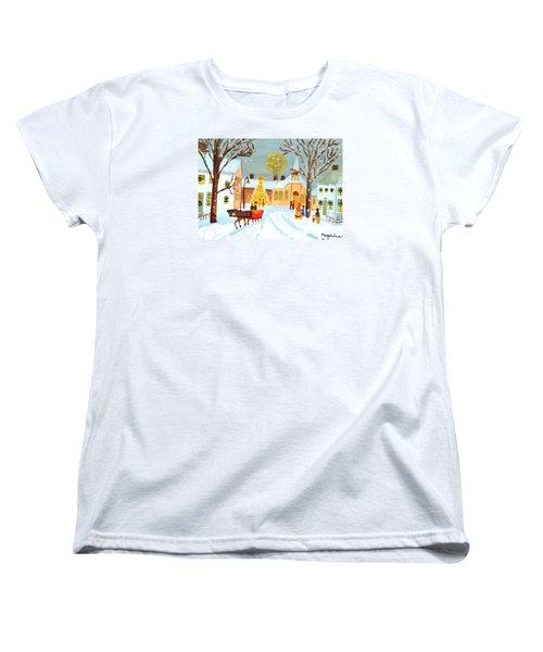 White Christmas Women's T-Shirt (Standard Cut) by Magdalena Frohnsdorff