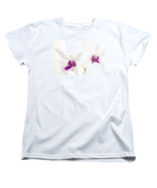 White Orchids Women's T-Shirt (Standard Cut) by Bradley R Youngberg