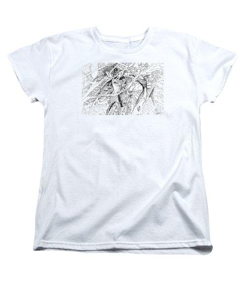 White-tail Encounter Women's T-Shirt (Standard Cut) by Bern Miller