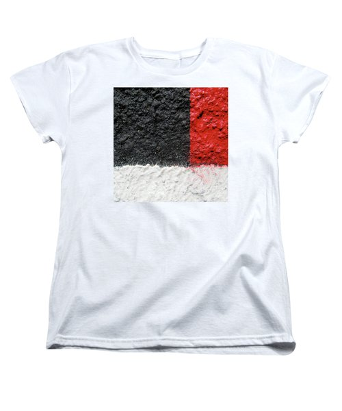 Women's T-Shirt (Standard Cut) featuring the photograph White Versus Black Over Red by CML Brown
