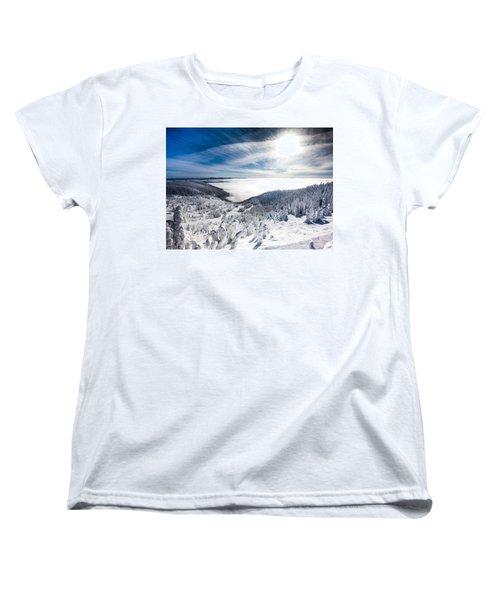 Whitefish Inversion Women's T-Shirt (Standard Cut) by Aaron Aldrich