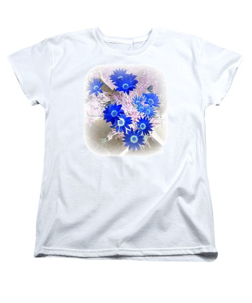 Wild Blue Women's T-Shirt (Standard Cut) by Kenneth Clarke