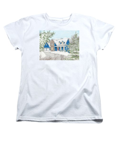 Women's T-Shirt (Standard Cut) featuring the painting Wiley House by Albert Puskaric