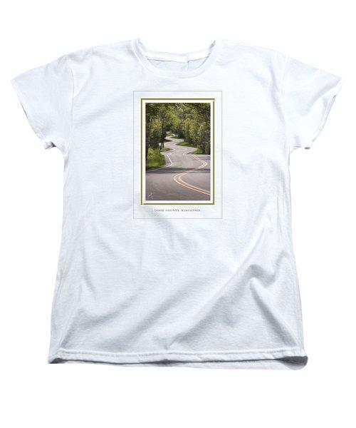 Winding Road Door County Women's T-Shirt (Standard Cut) by Barbara Smith