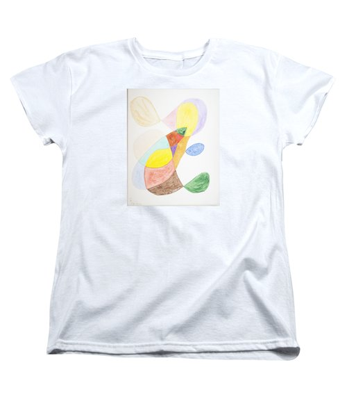 Women's T-Shirt (Standard Cut) featuring the painting Windy  by Stormm Bradshaw