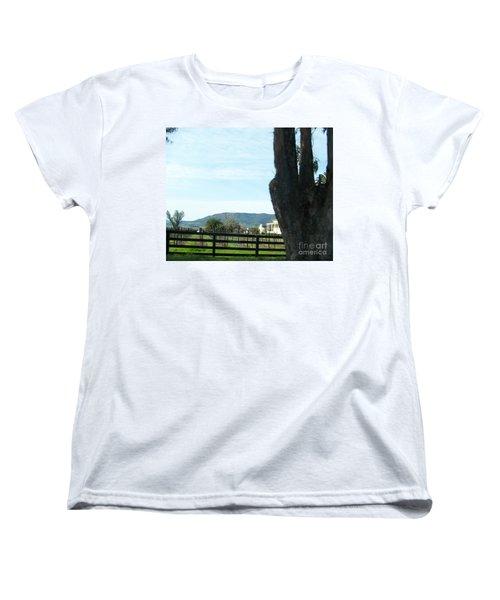 Women's T-Shirt (Standard Cut) featuring the photograph Winery by Bobbee Rickard