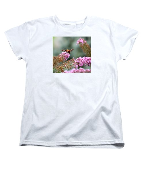 Women's T-Shirt (Standard Cut) featuring the photograph Wings In The Flowers by Kerri Farley