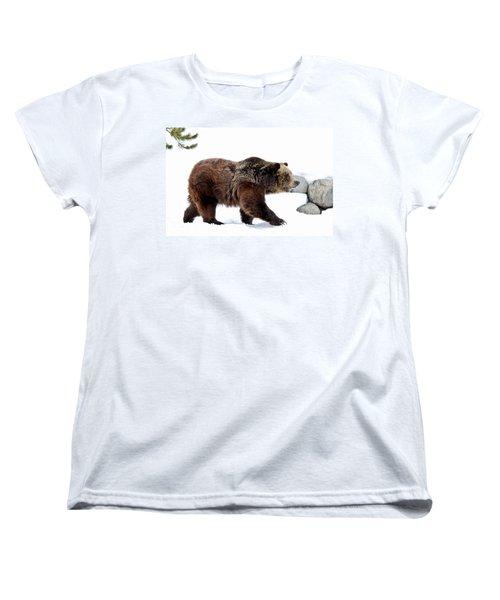 Winter Bear Walk Women's T-Shirt (Standard Cut) by Athena Mckinzie