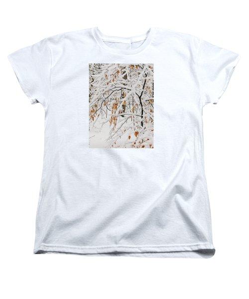 Women's T-Shirt (Standard Cut) featuring the photograph Winter Branches by Ann Horn