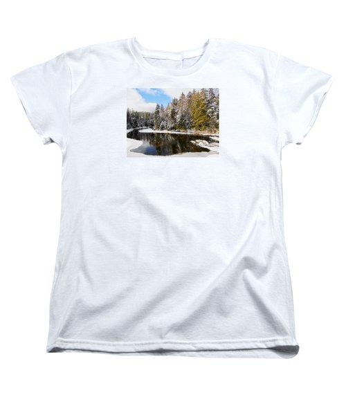Women's T-Shirt (Standard Cut) featuring the photograph Winter Impressions ... by Juergen Weiss