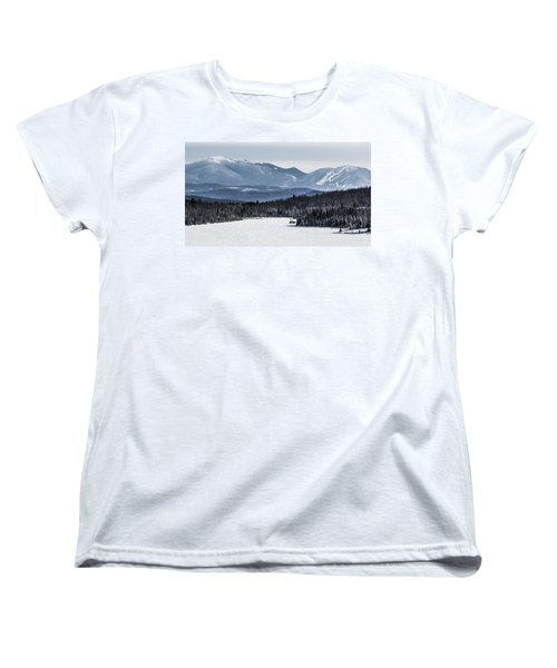 Winter Mountains Women's T-Shirt (Standard Cut) by Tim Kirchoff