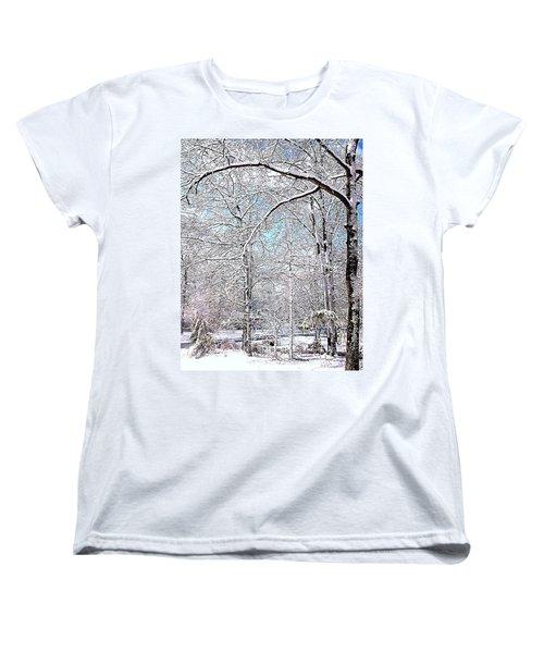 Winter On A Spring Day Women's T-Shirt (Standard Cut) by Pamela Hyde Wilson