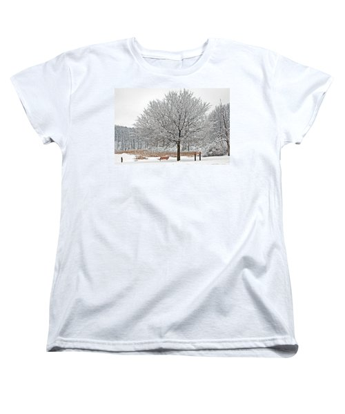 Women's T-Shirt (Standard Cut) featuring the photograph Winter Park by Aimee L Maher Photography and Art Visit ALMGallerydotcom