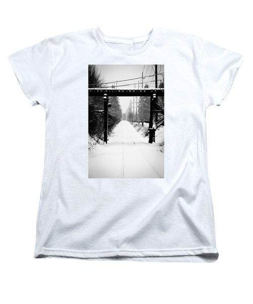 Women's T-Shirt (Standard Cut) featuring the photograph Winter Tracks by Aaron Berg