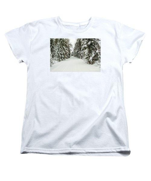 Winter Wonder Land Women's T-Shirt (Standard Cut) by Patrick Shupert