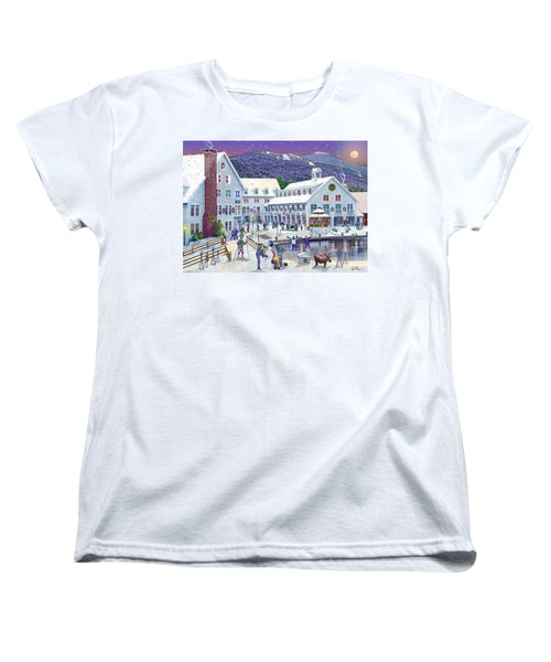 Wintertime At Waterville Valley New Hampshire Women's T-Shirt (Standard Cut) by Nancy Griswold