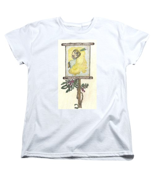 Women's T-Shirt (Standard Cut) featuring the drawing Wish And Tell by Kim Pate