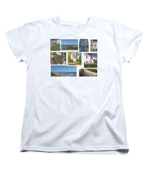 Women's T-Shirt (Standard Cut) featuring the photograph Wonderful Wellfleet by Barbara McDevitt