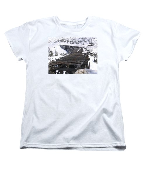 Women's T-Shirt (Standard Cut) featuring the photograph Wood Bridge by Brian Williamson