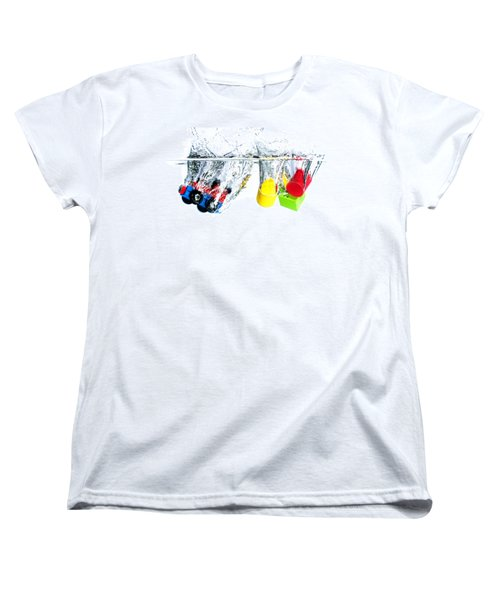 Wooden Toys In Water Women's T-Shirt (Standard Cut) by Mike Santis