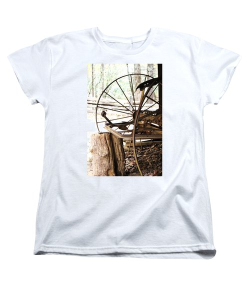 Women's T-Shirt (Standard Cut) featuring the photograph Woody And Wheely by Faith Williams
