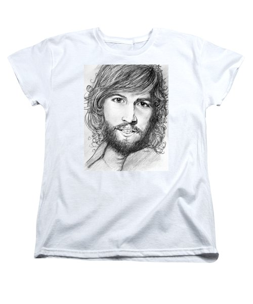 Women's T-Shirt (Standard Cut) featuring the drawing Barry Gibb  by Patrice Torrillo