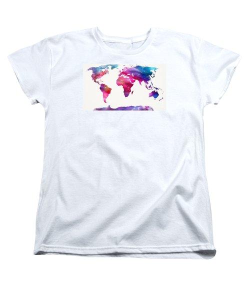 World Map Light  Women's T-Shirt (Standard Cut)