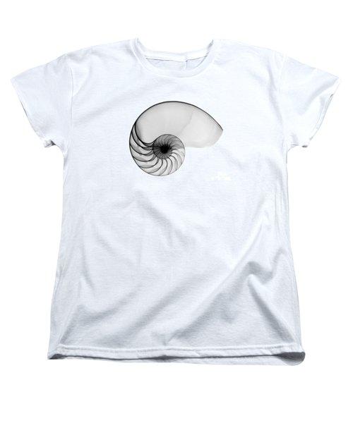 X-ray Of Nautilus Women's T-Shirt (Standard Cut) by Bert Myers