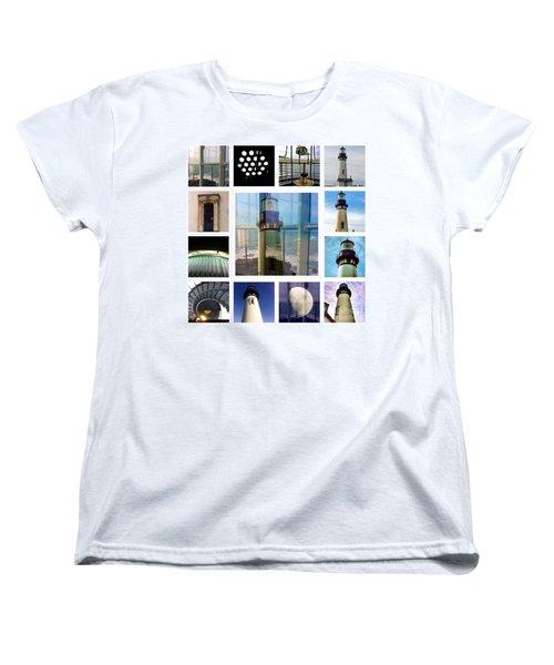 Yaquina Head Lighthouse Essence  Women's T-Shirt (Standard Cut) by Susan Garren