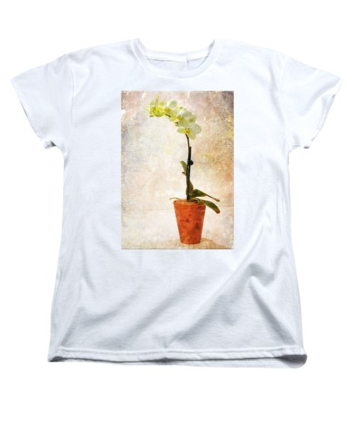 Women's T-Shirt (Standard Cut) featuring the photograph Yellow Orchid by Patti Deters