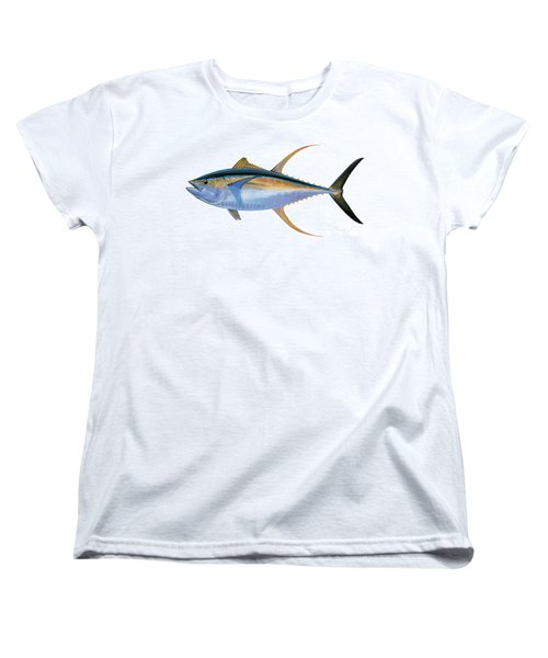 Yellowfin Tuna Women's T-Shirt (Standard Cut) by Carey Chen
