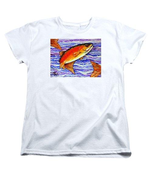 Yellowstone Cutthroat Women's T-Shirt (Standard Cut) by Jackie Carpenter