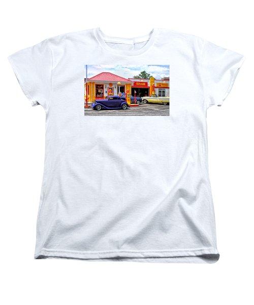 Yesterday's Shell Station Women's T-Shirt (Standard Cut) by Michael Pickett