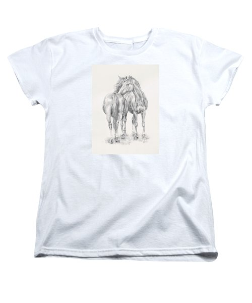You Scratch My Back I'll Scratch Yours Women's T-Shirt (Standard Cut) by Kim Lockman