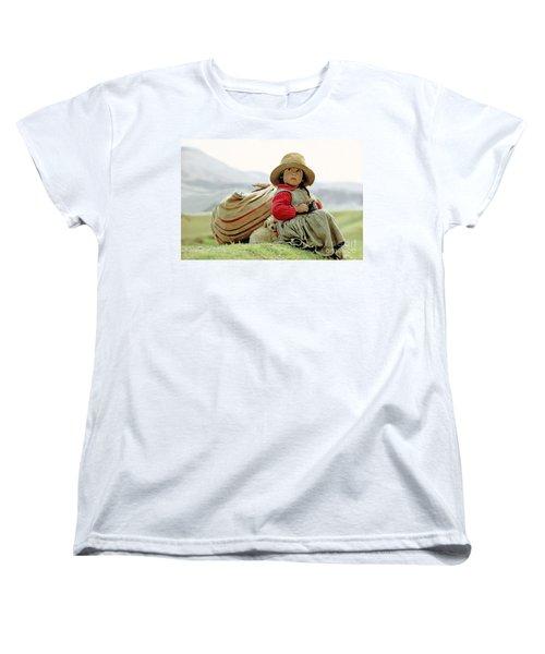 Young Girl In Peru Women's T-Shirt (Standard Cut)