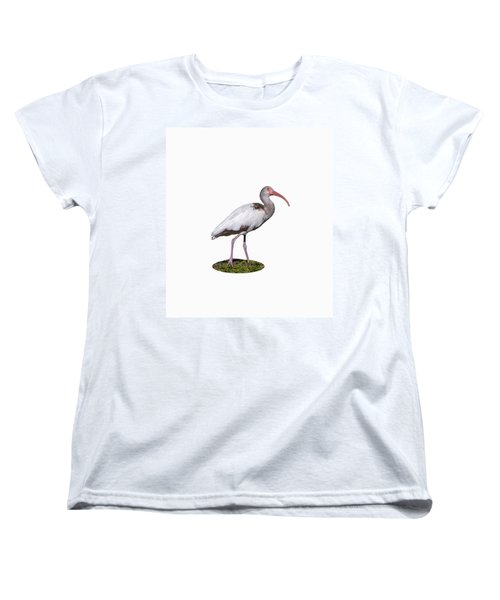 Women's T-Shirt (Standard Cut) featuring the photograph Young Ibis Gazing Upwards by John M Bailey