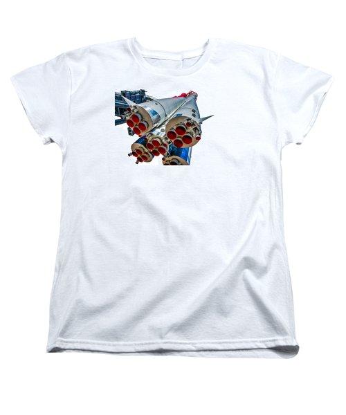 Yuri Gagarin's Spacecraft Vostok-1 - 5 Women's T-Shirt (Standard Cut) by Alexander Senin