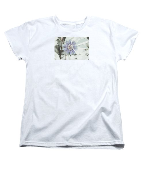 Women's T-Shirt (Standard Cut) featuring the photograph  Passion Flower On White by Tom Wurl
