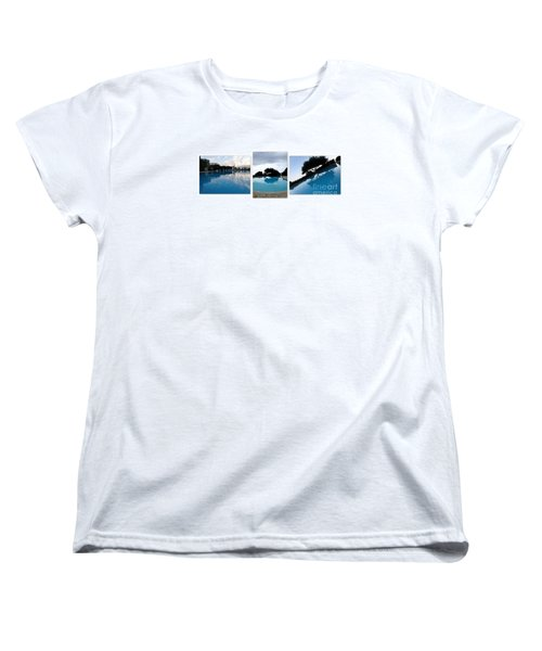 Women's T-Shirt (Standard Cut) featuring the photograph  Amalfi Coast Pool Reflections by Tanya  Searcy