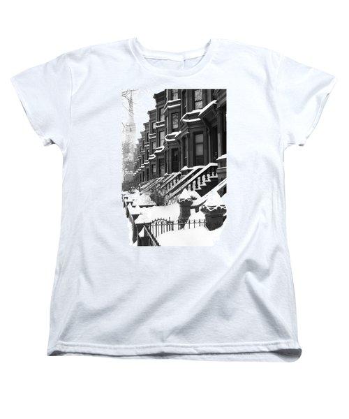 Carroll Street Women's T-Shirt (Standard Cut) by Mark Gilman
