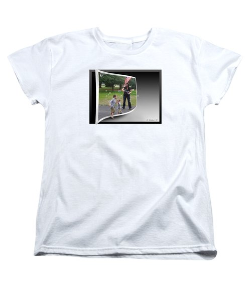 Women's T-Shirt (Standard Cut) featuring the photograph Chasing Bubbles by Brian Wallace